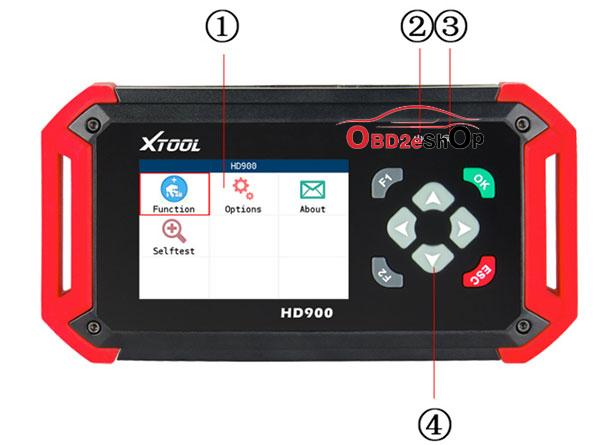 XTOOL HD900 Code Reader tablet