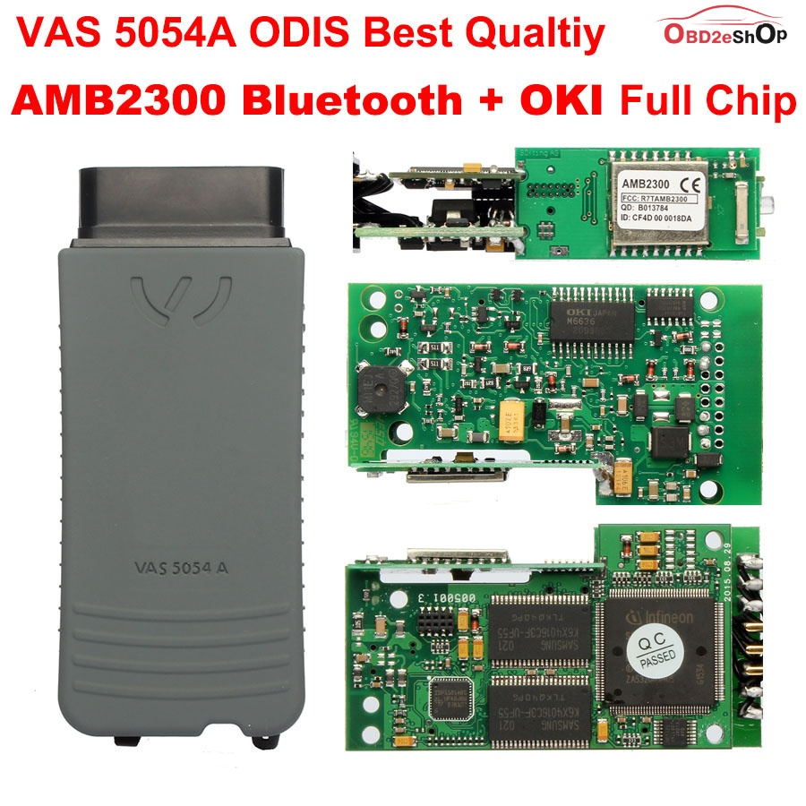 VAS 5054A with AMB2300 Bluetooth and OKI Full Chips A Quality Diagnostic Tool GOCARDIAG
