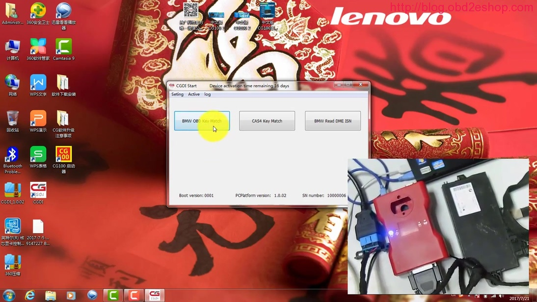 cgdi pro bmw cas3 315mhz obd key 01
